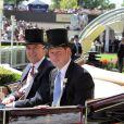 Le prince Harry et le prince Andrew arrivent au premier jour du Royal Ascot, le 17 juin 2014