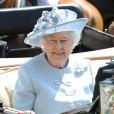 La reine Elizabeth II dans son landau au premier jour du Royal Ascot, le 17 juin 2014