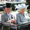 Le prince Charles et Camilla Parker Bowles au premier jour du Royal Ascot, le 17 juin 2014
