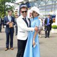 Danielle Lineker et Bruno Tonioli au premier jour du Royal Ascot, le 17 juin 2014