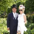 Tamara Beckwith et son mari Giorgio Veroni au premier jour du Royal Ascot, le 17 juin 2014