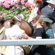Zara Phillips et ses cousines les princesses Eugenie et Beatrice d'York au premier jour du Royal Ascot, le 17 juin 2014