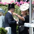 Zara Phillips avec son oncle le prince Andrew au premier jour du Royal Ascot, le 17 juin 2014