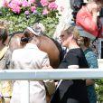 Les princesses Eugenie et Beatrice d'York avec leur cousine Zara Phillips au premier jour du Royal Ascot, le 17 juin 2014