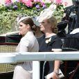 Eugenie d'York et Zara Phillips au premier jour du Royal Ascot, le 17 juin 2014