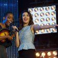 Irma et Karima Charni au concert M6 Music Live, à Issy-les-Moulineaux, le 14 juin 2014.