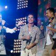 The Latin Lovers au concert M6 Music Live, à Issy-les-Moulineaux, le 14 juin 2014.