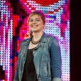 Louane au concert M6 Music Live, à Issy-les-Moulineaux, le 14 juin 2014.