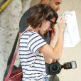 Emma Roberts brunette à West Hollywood, Los Angeles, le 18 juin 2014.