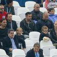 Zlatan Ibrahimovic et sa famille ont assisté au match Angleterre-Uruguay (0-2) à Sao Paulo, le 19 juin 2014 lors de la Coupe du monde 2014