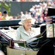 La reine Elisabeth d'Angleterre - 2e jour des courses Royal Ascot, le 18 juin 2014