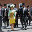 La princesse Haya de Jordanie et son mari le Sheikh Mohammed Al Maktoum, Emir de Dubai - 2e jour des courses Royal Ascot le 18 juin 2014