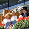 """Sophie, la comtesse de Wessex - La famille royale d'Angleterre au 2e jour de la course hippique """"Royal Ascot"""", le 18 juin 2014. La famille a ensuite participé à la """"Eton Tea Party""""."""