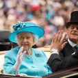La reine Elisabeth d'Angleterre et le prince Philip, duc d'Edimbourg - 3e jour des courses Royal Ascot à Berkshire, le 19 juin 2014