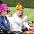 La princesse Anne d'Angleterre et la princesse Beatrice d'York - 3e jour des courses Royal Ascot à Berkshire, le 19 juin 2014