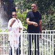 Exclusif - Kerry Washington, son mari Nnamdi Asomugha et leur fille Isabelle à Los Angeles, le 22 juin 2014.