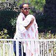 Exclusif - Kerry Washington, son mari Nnamdi Asomugha et leur fille Isabelle dans les rues de Los Angeles, le 22 juin 2014.