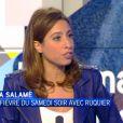 """Léa Salamé dans """"La semaine des médias"""". Juin 2014."""