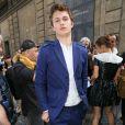 L'acteur Ansel Elgort à l'hôtel Salomon de Rothschild pour le défilé homme Valentino printemps-été 2015. Paris, le 25 juin 2014.