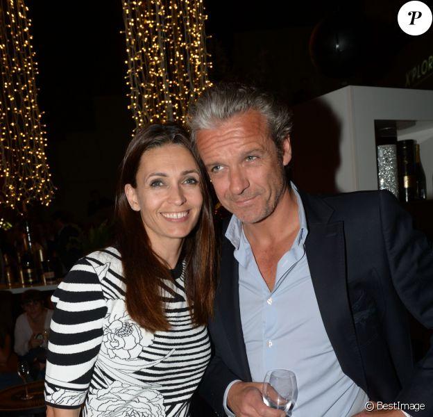 Exclusif - Adeline Blondieau et David Brécourt lors de la soirée Nicolas Feuillatte au Yoyo - Palais de Tokyo à Paris, le 26 juin 2014.
