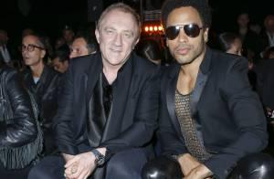 Fashion Week : Etienne Daho et Lenny Kravitz, rockstars au défilé Saint Laurent