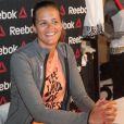 La jolie Laure Manaudou en séance de dédicaces chez Intersport à Paris le 23 avril 2014 pour son sponsor Reebok.