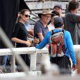 Angelina Jolie lors du tournage du film Unbroken en Australie le 9 décembre 2013