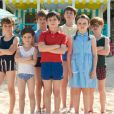 Avec les enfants sur le tournage des Vacances du Petit Nicolas.