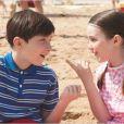 Mathéo Boisselier et son amoureuse dans le film Les Vacances du Petit Nicolas.