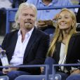 Sir Richard Branson et Jelena Ristic à l'US Open à Flushing Meadows, à New York le 5 septembre 2013