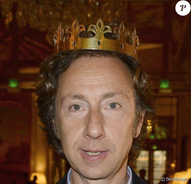 Stéphane Bern - Traditionnelle galette des reines à l'hotel Meurice à Paris le 11 janvier 2014.