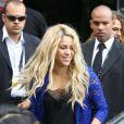 Shakira à Rio de Janeiro, le 12 juillet 2014. La chanteuse s'est rendue au Brésil pour se produire lors de la cérémonie de clôture de la Coupe du monde de football.
