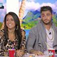 """Shanna et Thibault sur le plateau du """"Mag"""" sur NRJ12. Lundi 2 juin 2014."""