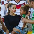 Mandy Capristo, la compagne de Mesut Özil lors de la finale de la Coupe du monde au Brésil, le 13 juillet 2014 au Maracanã de Rio de Janeiro