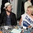 Rick Salomon et Pamela Anderson - Soirée Vanity Fair Armani à l'Eden Roc au cap d'Antibes le 17 mai 2014.