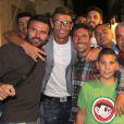 Cristiano Ronaldo en vacances avec des amis à Mykonos, le 3 juillet 2014