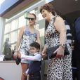 Cristiano Ronaldo Jr. et sa grand-mère Dolores Aveiro à Funchal au Portugal le 15 deccembre 2013.