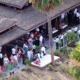 Exclusif - Mariage de Behati Prinsloo et Adam Levine à la Flora Farm à Los Cabos, le 19 juillet 2014. Le couple a concocté un mariage original