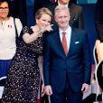 La reine Mathilde et le roi Philippe de Belgique ont apprécié l'ambiance du grand bal national organisé Place du jeu de balle à Bruxelles le 20 juillet 2014 à la veille des célébrations de la fête nationale.