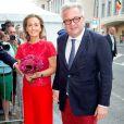 La princesse Claire et le prince Laurent de Belgique au concert 'Prélude à la fête nationale' au palais des Beaux-Arts à Bruxelles le 20 juillet 2014