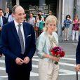 Le prince Lorenz et la princesse Astrid de Belgique au concert 'Prélude à la fête nationale' au palais des Beaux-Arts à Bruxelles le 20 juillet 2014
