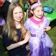 Chelsea Clinton, enceinte, à l'événement Pirate and Princess: Power of Doing Good organisé par la chaîne Disney Junior dans le quartier d'Harlem à New York, le 25 juillet 2014. La fille de Bill et Hillary Clinton s'est adressée à des enfants de 2 à 7 ans et leur famille pour leur rappeller l'importance de s'investir pour faire le bien autour de soi.