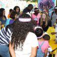 Chelsea Clinton, enceinte, à l'événement Pirate and Princess: Power of Doing Good organisé par la chaîne Disney Junior dans le quartier d'Harlem à New York, le 25 juillet 2014. La fille de Bill Clinton s'est adressée à des enfants de 2 à 7 ans et leur famille pour leur rappeller l'importance de s'investir pour faire le bien autour de soi.