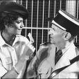 Louis de Funès sur le tournage du film Le Gendarme et les extra-terrestres en 1978