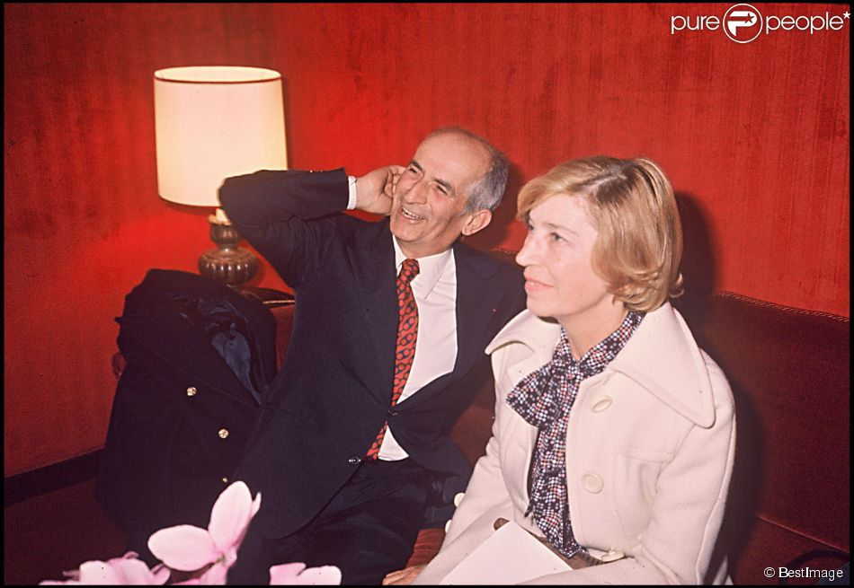 louis de fun s et sa femme jeanne au th tre des vari t s paris en 1976. Black Bedroom Furniture Sets. Home Design Ideas