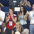 Kate Middleton avec le prince William au Tollcross Swimming Centre le 28 juillet 2014 à Glasgow lors des XXe Jeux du Commonwealth
