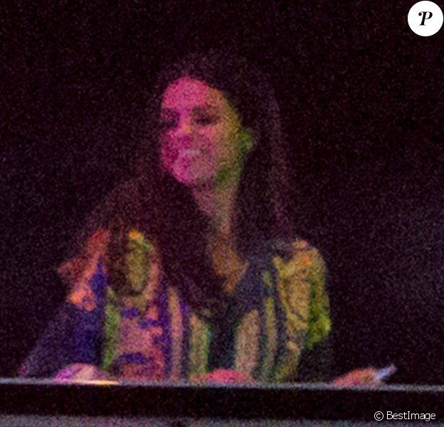 Selena Gomez, lors de sa soirée d'anniversaire sur le bateau Ecstasea à Saint-Tropez, le 22 juillet 2014.