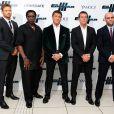 Kellan Lutz, Wesley Snipes, Sylvester Stallone, Antonio Banderas et Jason Statham lors de la première d'Expendables 3 à l'Odeon Cinema, Londres, le 4 août 2014.