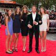 Sylvester Stallone en famille lors de la première d'Expendables 3 à l'Odeon Cinema, Londres, le 4 août 2014.