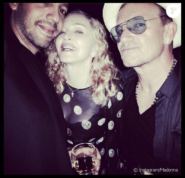 Madonna a célébré son anniversaire en avance en compagnie du chanteur Bono de U2, le 7 août 2014.